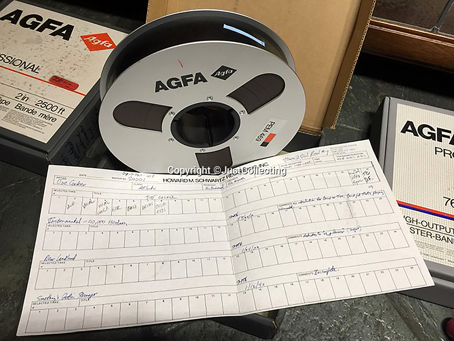 BNPS.co.uk (01202 558833)<br /> Pic: JustCollecting/BNPS<br /> <br /> The master tapes from the legendary Woodstock Festival have emerged for sale for £600,000 - but the successful bidder will only be able to play them in the comfort of their own home.<br /> <br /> The over 700 minutes of audio features iconic performances from Jimi Hendrix, The Who, Joe Cocker and Janis Joplin.<br /> <br /> They were made by producer Eric Blackstead who put together the albums Woodstock (1970) and Woodstock Two (1971) to capitalise on the festival's huge success.<br /> <br /> Only four copies of the master tapes exist, with the other three residing in the archives of record labels.<br /> <br /> The tapes are being sold with British auction house Just Collecting. However, reproduction and distribution rights are not included in the purchase, so the buyer will get the 'physical ownership' of the items only.