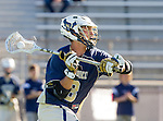 Tustin, CA 04/23/16 - Jack Kagan {La Costa Canyon #8) in action during the non-conference CIF varsity lacrosse game between La Costa Canyon and Foothill at Tustin Union High School.  Foothill defeated La Costa Canyon 10-9 in sudden death overtime.