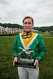 USA, Tennessee, Nashville, Iroquois Steeplechase, portrait of Irish jockey, winner of the second race of the day