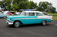 1956 Cruiser Class (#91C) – 1956 Chevrolet Bel Air 2-Door Sedan registered to Dominic Caminiti is pictured during 4th State Representative Chevy Show on Saturday, July 2, 2016, in Fort Wayne, Indiana. (Photo by James Brosher)