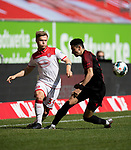 Jean ZIMMER l. (D) im Zweikampf gegen Ruben VARGAS (A),  Aktion,<br /><br />Fussball 1. Bundesliga, 33.Spieltag, Fortuna Duesseldorf (D) -  FC Augsburg (A), am 20.06.2020 in Duesseldorf/ Deutschland. <br /><br />Foto: AnkeWaelischmiller/Sven Simon/ Pool/ via Meuter/Nordphoto<br /><br /># Editorial use only #<br /># DFL regulations prohibit any use of photographs as image sequences and/or quasi-video #<br /># National and international news- agencies out #