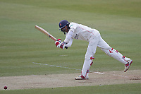 Haseeb Hameed of Lancashire CCC drives through the on side and collects a boundary during Middlesex CCC vs Lancashire CCC, Specsavers County Championship Division 2 Cricket at Lord's Cricket Ground on 12th April 2019
