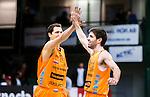 S&ouml;dert&auml;lje 2015-02-03 Basket Basketligan S&ouml;dert&auml;lje Kings - Norrk&ouml;ping Dolphins :  <br /> Norrk&ouml;ping Dolphins Toni Prostran jublar med Tomas Gaidamavicius efter matchen mellan S&ouml;dert&auml;lje Kings och Norrk&ouml;ping Dolphins <br /> (Foto: Kenta J&ouml;nsson) Nyckelord:  S&ouml;dert&auml;lje Kings SBBK T&auml;ljehallen Norrk&ouml;ping Dolphins jubel gl&auml;dje lycka glad happy