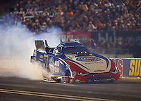 Sep 2, 2016; Clermont, IN, USA; NHRA funny car driver Robert Hight during qualifying for the US Nationals at Lucas Oil Raceway. Mandatory Credit: Mark J. Rebilas-USA TODAY Sports