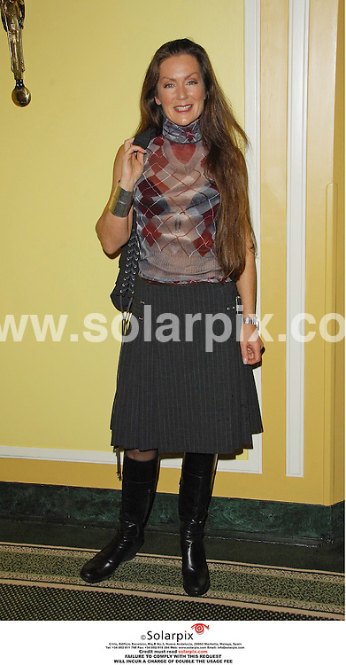 "ALL ROUND  PICTURES BY SOLARPIX.COM.MUST CREDIT SOLARPIX.COM OR DOUBLE FEE WILL BE CHARGED.Arrivals at the Dorchester Hotel in London today for the ""Make a Wish fashion show..Pic shows.Lorain Chase.JOB REF.PRS 2902 11.10.06."