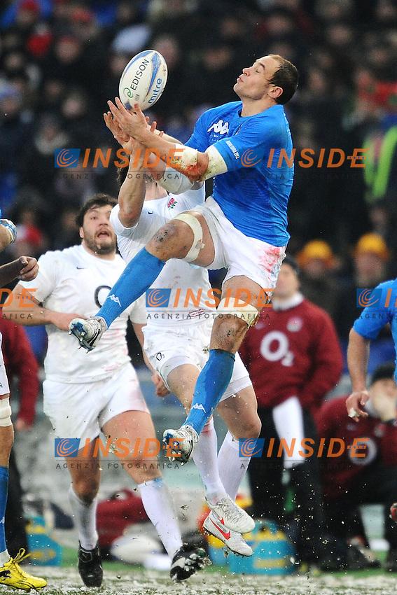 """Sergio Parisse Italia.Roma 11/20/2012 Stadio """"Olimpico"""".Rugby 6 Nations Tournament - Torneo delle 6 Nazioni 2012.Italia Vs Inghilterra - Italy Vs England .Foto Insidefoto Andrea Staccioli"""