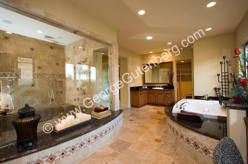 Stock photo of residential bathroom interior design stock Luxury master bathroom suites