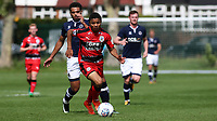 Denilson Carvalho of Huddersfield Town races upfield during Millwall Under-23 vs Huddersfield Town Under-23, Professional Development League Football at Millwall Training Ground on 14th August 2017