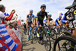 The peloton including Nairo Quintana (COL) Movistar Team summit the Cat 3 climb of Cote d'Eschdorf during Stage 3 of the 104th edition of the Tour de France 2017, running 212.5km from Verviers, Belgium to Longwy, France. 3rd July 2017.<br /> Picture: Eoin Clarke | Cyclefile<br /> <br /> All photos usage must carry mandatory copyright credit (&copy; Cyclefile | Eoin Clarke)
