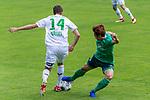 07.07.2019, Parkstadion, Zell am Ziller, AUT, PSP SV WERDER BREMEN vs WSG SWAROVSKI TIROL<br /> <br /> im Bild / picture shows <br /> <br /> <br /> Claudio Pizarro (Werder Bremen #14)<br /> Fin Bartels (Werder Bremen #22)<br /> <br /> Foto © nordphoto / Kokenge