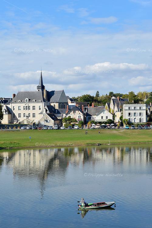 L'ancienne abbaye de Bouchemaine qui abrite maintenant la Mairie.