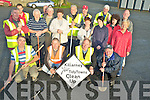 Volunteers and residents pictured ahead of the Killarney Tidy Towns clean up on Saturday morning.