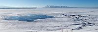 The frozen expanse of Yellowstone Lake.