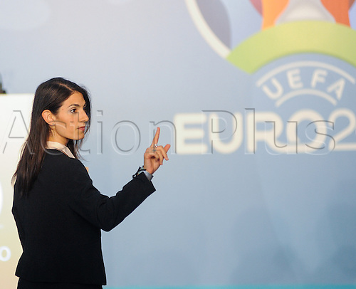 22.09.2016. Rome, Italy. Presentation of Rome's Euro2020 Logo for the event. The mayor of Rome Virginia Raggi