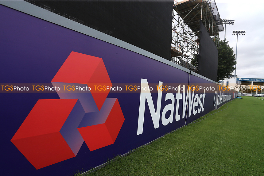 General view of the NatWest logo ahead of Essex Eagles vs Glamorgan, NatWest T20 Blast Cricket at The Cloudfm County Ground on 16th July 2017