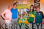 Celine and Mary Lynch and Cremin with the Sam Maguire in the Top of Coom.