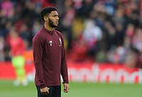 Liverpool's Joe Gomez during the pre-match warm-up <br /> <br /> Photographer Rich Linley/CameraSport<br /> <br /> UEFA Champions League Semi-Final 2nd Leg - Liverpool v Barcelona - Tuesday May 7th 2019 - Anfield - Liverpool<br />  <br /> World Copyright &copy; 2018 CameraSport. All rights reserved. 43 Linden Ave. Countesthorpe. Leicester. England. LE8 5PG - Tel: +44 (0) 116 277 4147 - admin@camerasport.com - www.camerasport.com