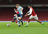 16/04/2018 Arsenal v Blackpool FAYC Semi 2L<br /> <br /> Fin Sinclair-Smith battles for possession