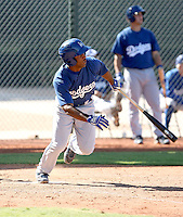Jonathan Garcia - Los Angeles Dodgers - 2010 Instructional League.Photo by:  Bill Mitchell/Four Seam Images..