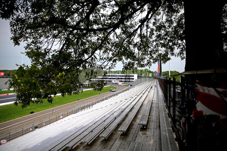 May 30, 2013; Englishtown, NJ, USA: General view as a tree hangs over the grandstands at Raceway Park. Mandatory Credit: Mark J. Rebilas-