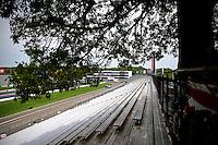 May 30, 2013; Englishtown, NJ, USA: General view as a tree hangs over the grandstands at Raceway Park. Mandatory Credit: Mark J. Rebilas-
