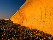 The North Wall at Hampton Beach, New Hampshire USA at sunrise