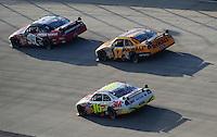 Sept. 21, 2008; Dover, DE, USA; Nascar Sprint Cup Series driver Carl Edwards (99) leads teammates Matt Kenseth (17) and Greg Biffle (16) during the Camping World RV 400 at Dover International Speedway. Mandatory Credit: Mark J. Rebilas-