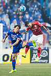 Guangzhou Defender Zhang Linpeng (R) fights for the ball with Suwon Midfielder Yeom Ki Hun (L) during the AFC Champions League 2017 Group G match Between Suwon Samsung Bluewings (KOR) vs Guangzhou Evergrande FC (CHN) at the Suwon World Cup Stadium on 01 March 2017 in Suwon, South Korea. Photo by Victor Fraile / Power Sport Images
