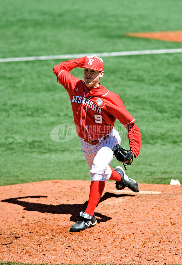 Mar. 21, 2010; Austin, TX, USA; Nebraska Cornhuskers pitcher Khris Tate against the Texas Longhorns at UFCU Disch-Falk Field. Texas defeated Nebraska 13-3. Mandatory Credit: Mark J. Rebilas-