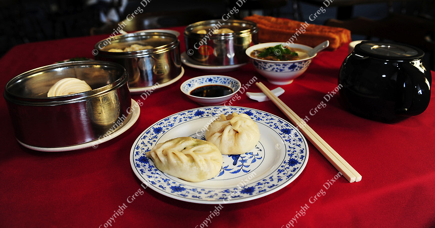 Northern Chinese dumplings are presented in variety at Yen Ching restaurant