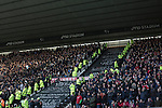 Derby County 1 Nottingham Forest 2, 17/01/2015. iPro Stadium, Championship. Home and away fans separated by stewards and police in the East Stand at the iPro Stadium during the second-half of Derby Country's Championship match against Nottingham Forest at the iPro Stadium, Derby. The match was won by the visitors by 2 goals to 1, watched by a derby-day crowd of 32,705. The stadium, opened in 1997, was formerly known as Pride Park. Photo by Colin McPherson.