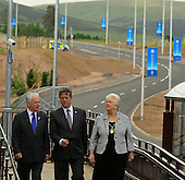 Transport Minister Keith Brown MSP, Provost Liz Grant and VIPs at the opening of the refurbished Gleneagles Station and access road ahead of the 2014 Ryder Cup which will be played over the PGA Centenary Course at Gleneagles from 23rd to 28th September 2014: Picture Stuart Adams www.golftourimages.com: 26th June 2014