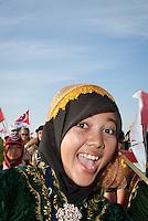 Happy indonesian girl