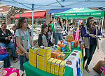 The Girl Scouts of the Sierra Nevada sell cookies during the Easter Egg Hunt at Legends in Sparks, Nevada on Saturday, April 20, 2019.