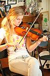 Old Time Fiddler's jam, Fiddletown, Calif.--jamming in the Osborn home