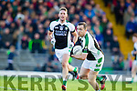 South Kerry in action against Kevin Breen Legion at the Kerry County Senior Football Final at Fitzgerald Stadium on Sunday.