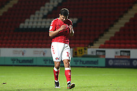 Albie Morgan of Charlton Athletic rues missing the fourth penalty for Charlton in the Shoot-out during Charlton Athletic vs Forest Green Rovers, Caraboa Cup Football at The Valley on 13th August 2019