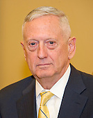 "Retired United States Marine Corps General James N. ""Mad Dog"" Mattis, US President-elect Donald J. Trump's selection to be US Secretary of Defense, as he met with US Senate Majority Leader Mitch McConnell (Republican of Kentucky) in his office in the US Capitol in Washington, DC on Wednesday, December 7, 2016.<br /> Credit: Ron Sachs / CNP"