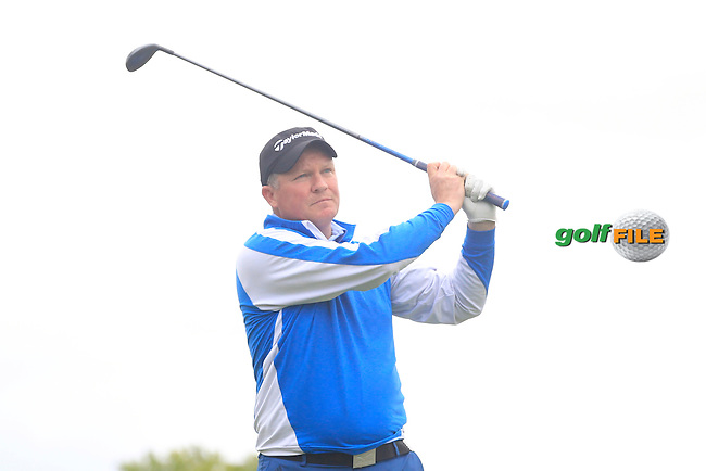 Michael Barrett (Slievenamon) on the 11th tee during Round 3 of the Irish Mid-Amateur Open Championship at New Forest on Sunday 21st June 2015.<br /> Picture:  Thos Caffrey / www.golffile.ie