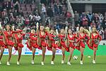 08.10.2018, Rheinenergiestadion, K&ouml;ln, GER, DFL, 2.BL, 1. FC K&ouml;ln vs MSV Duisburg, DFL regulations prohibit any use of photographs as image sequences and/or quasi-video<br /> <br /> im Bild Cheerleader des 1. FC K&ouml;ln<br /> <br /> Foto &copy; nph/Horst Mauelshagen