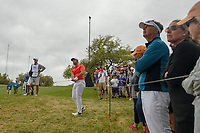 Jon Rahm (ESP) watches his chip on to 6 during day 3 of the World Golf Championships, Dell Match Play, Austin Country Club, Austin, Texas. 3/23/2018.<br /> Picture: Golffile | Ken Murray<br /> <br /> <br /> All photo usage must carry mandatory copyright credit (&copy; Golffile | Ken Murray)
