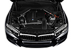 Car stock 2019 BMW X6 35i 5 Door SUV engine high angle detail view