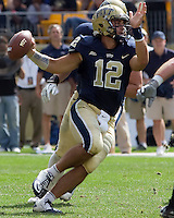 Pitt quarterback Tino Sunseri. The Pitt Panthers beat the Maine Black Bears 35-29 at Heinz Field, Pittsburgh, PA on September 10, 2011.