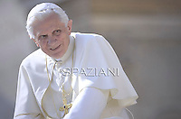 Pope Benedict XVI during his weekly general audience in St. Peter square at the Vatican, Wednesday. 28 September, 2011
