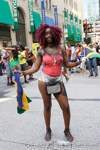 One of the female participants in the Carifiesta parade