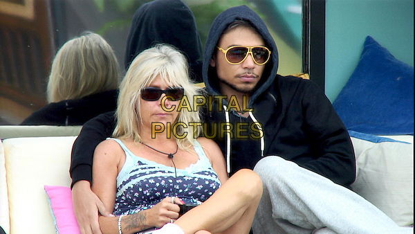 Celebrity Big Brother, Summer 2016, Day 8<br /> Samantha Fox and Ricky Norwood.<br /> *Editorial Use Only*<br /> CAP/KFS<br /> Image supplied by Capital Pictures