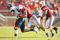 14 October 2006: Will Powers and Pat Maynor during Stanford's 20-7 loss to Arizona during Homecoming at Stanford Stadium in Stanford, CA.