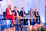 Speakers pictured at IT Tralee Cantillon 2017, on Thursday, March 30th last were l-r: Miriam O'Callaghan (MC), Dennis David (MyCrypt), Donagh Buckley (Dell ENC), Andrew Harbison (Grant Thornton) and Brian Martin (Eir Business).