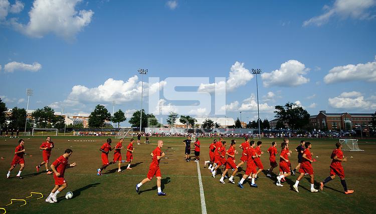 USMNT open training, USA vs Brazil.