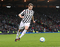 Marc McAusland in the St Mirren v Celtic Scottish Communities League Cup Semi Final match played at Hampden Park, Glasgow on 27.1.13.